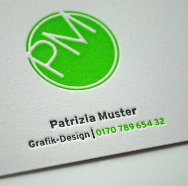 Visitenkarten Letterpress