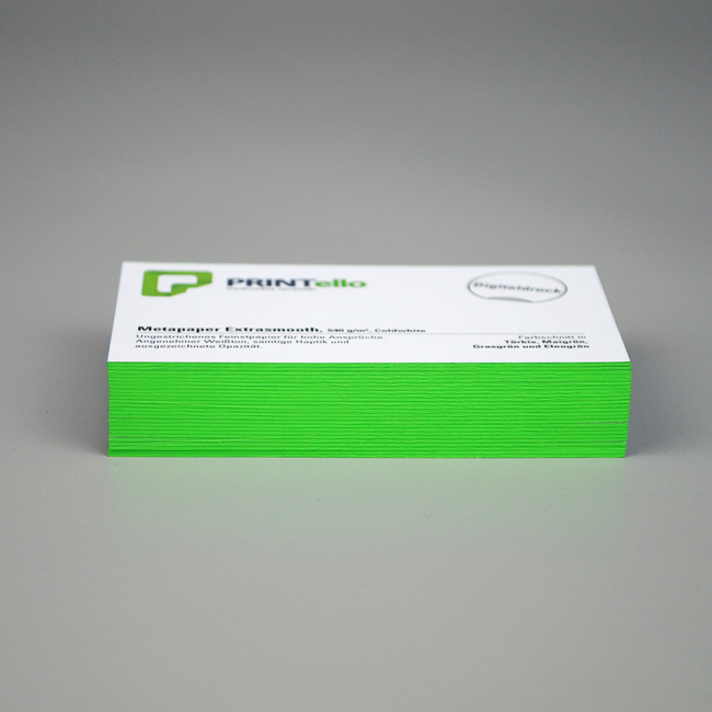 Visitenkarten Mit Farbschnitt Drucken Printello