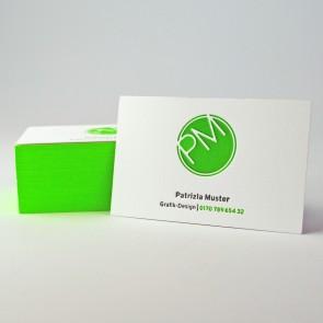 Letterpress Visitenkarten mit Farbschnitt