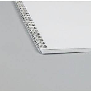 Wire-O-Broschüre, Spirale silber