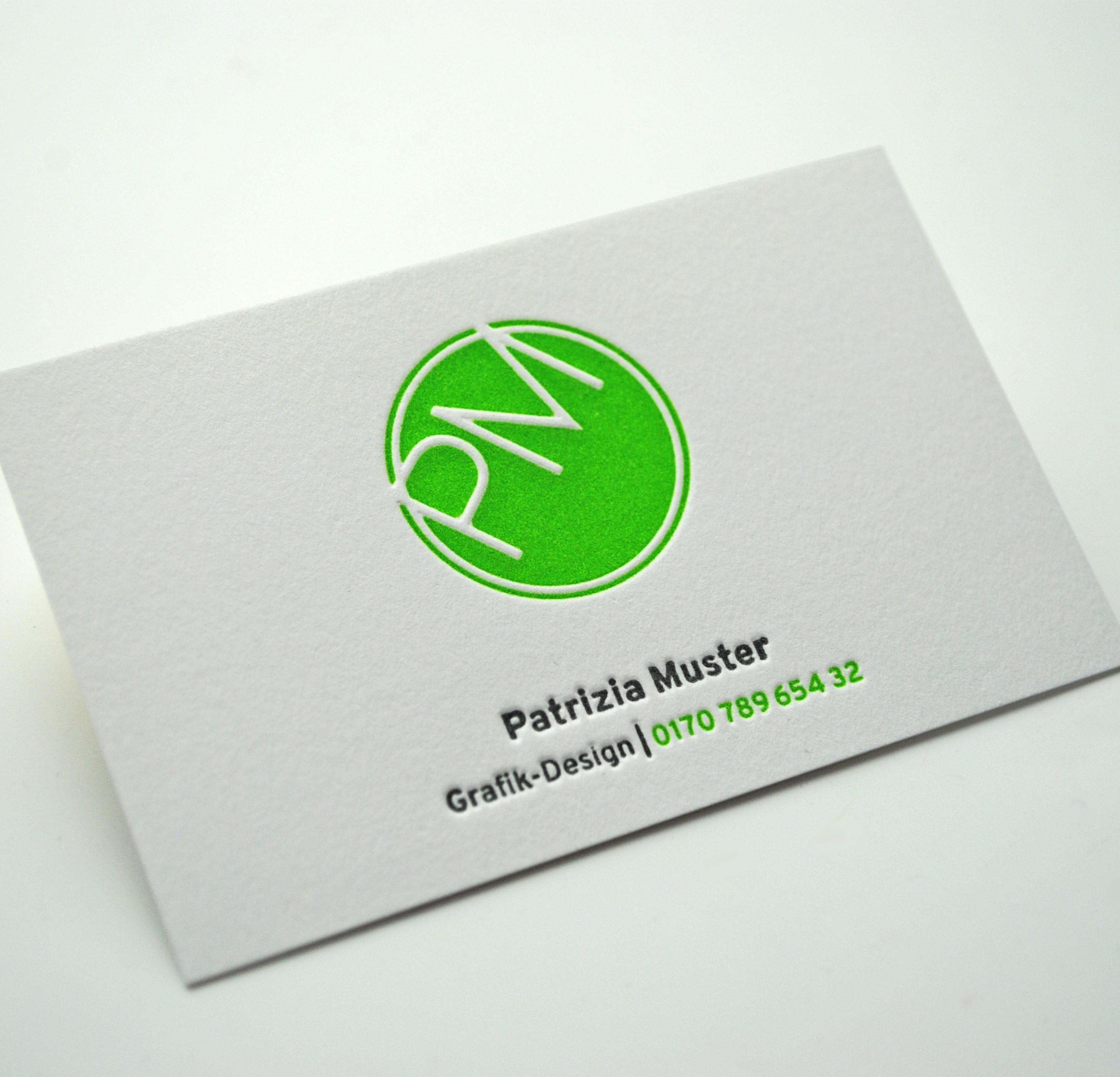 Vistenkarten Letterpress