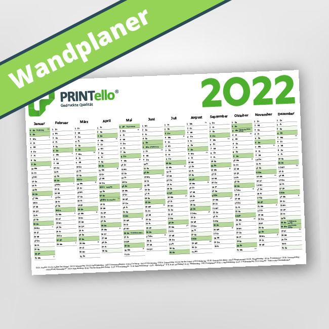 Jahreskalender und Wandplaner drucken